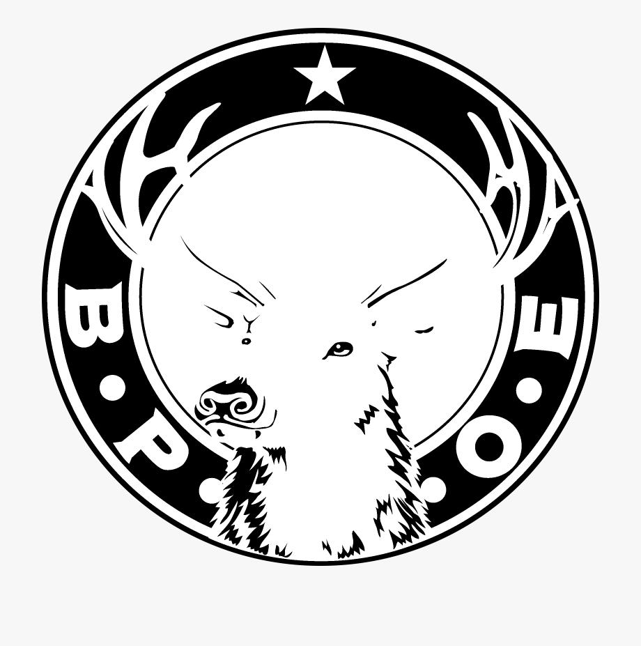 Elks Club Logo Black And White.