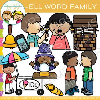 Short Vowel Word Family Clip Art.