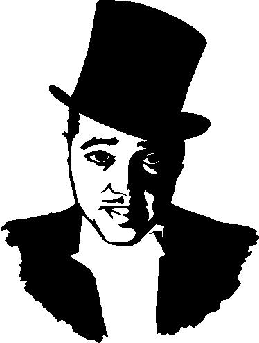 Duke Ellington Portrait Decorative Sticker.