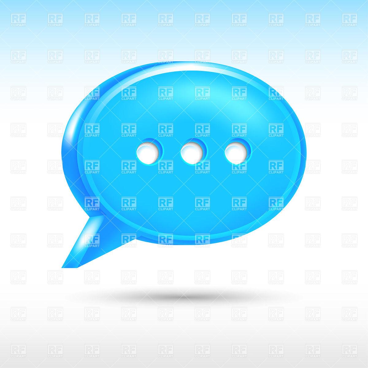 Blue speech bubble with ellipsis icon Vector Image #13223.