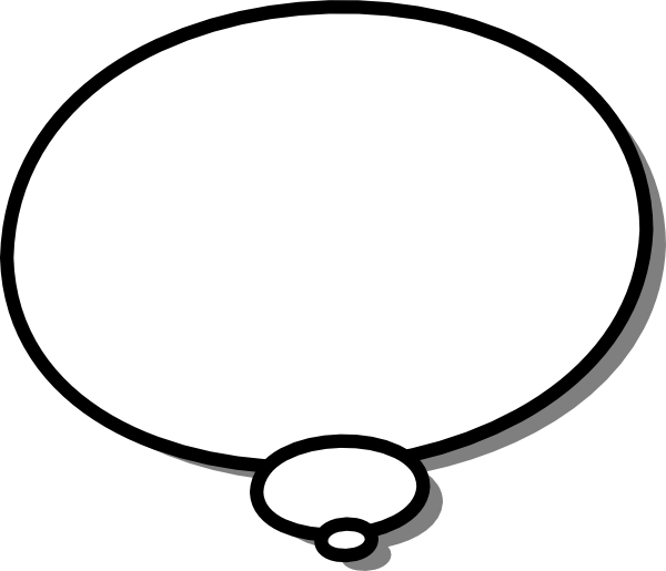 Ellipses Callout Thought Thinking clip art Free Vector / 4Vector.