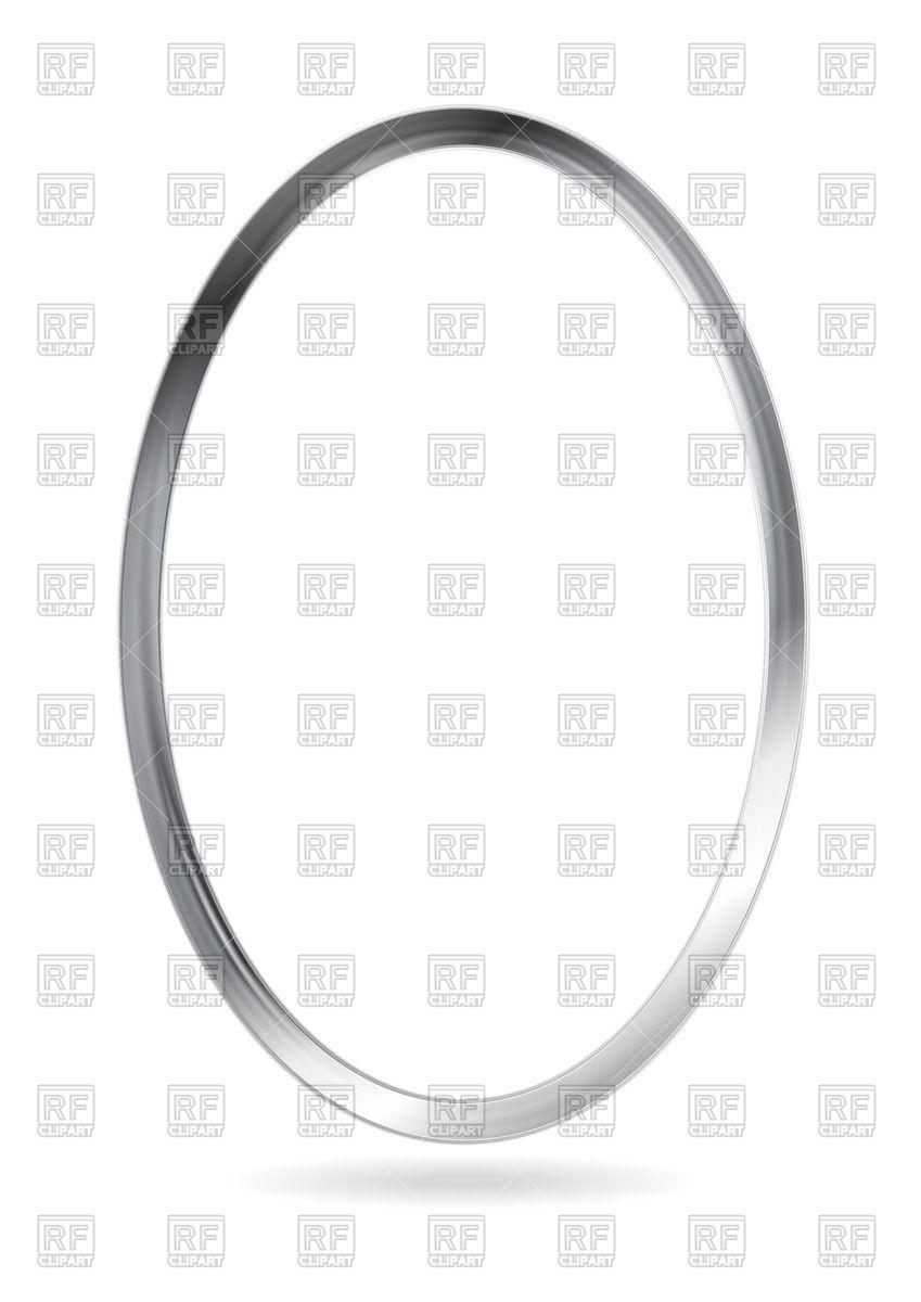 Steel metal ellipse frame Vector Image #60432.