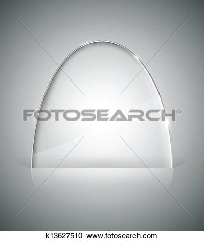 Clipart of Transparent elliptic glass stand k13627510.