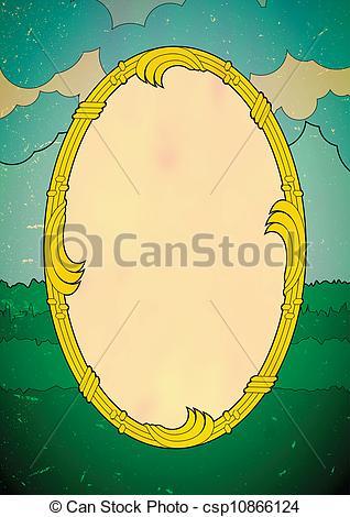 Vector Illustration of Elliptic deco frame.