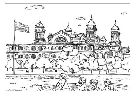 Ellis Island Coloring Sheets coloring page, coloring image.