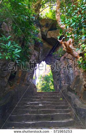 Rock Stairway Stock Photos, Royalty.