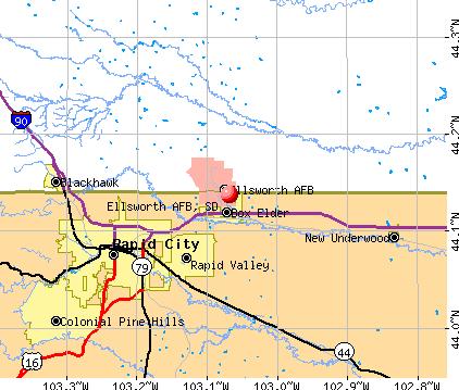 Ellsworth AFB, South Dakota (SD 57719) profile: population, maps.