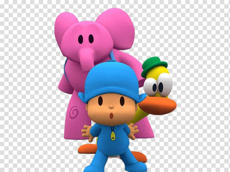 Peepee character illustration, Pocoyo, Elly and Pato.