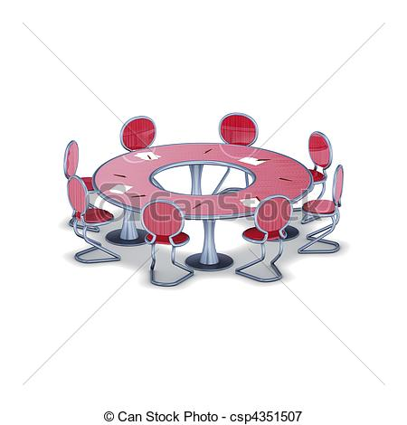 Stock Illustrations of elliptic reunion table.