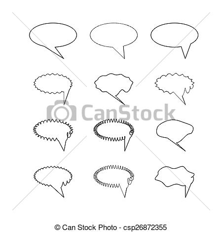 Clipart Vector of Elliptic speech bubbles.