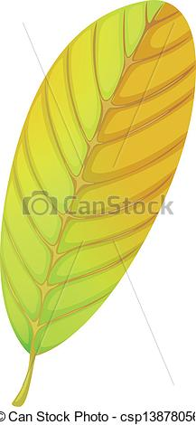 Clipart Vector of An elliptic leaf.
