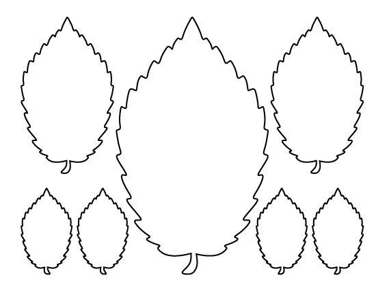 Elm leaf pattern. Use the printable outline for crafts, creating.