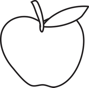 Apple drawing clipart.