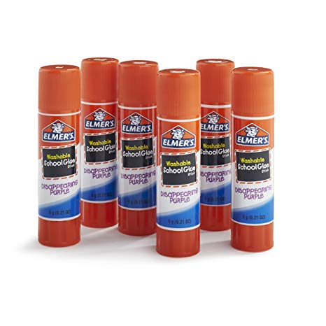 Elmer's Disappearing Purple School Glue, Washable, 6 Pack, 0.21.