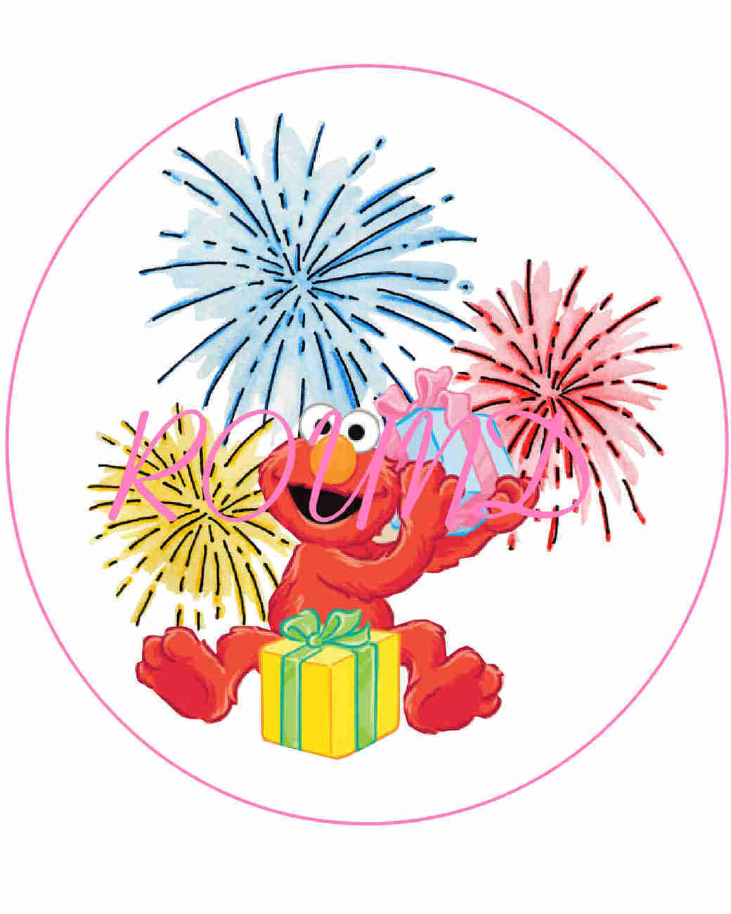 Pix For Elmo Birthday Clip Art.