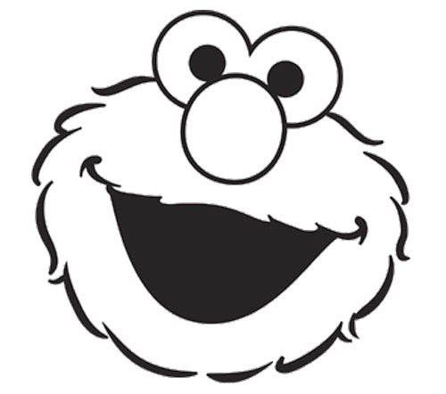 Elmo Face Coloring Page.