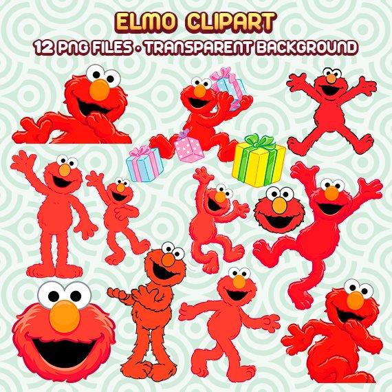 Elmo Clipart, Elmo PNG, Sesame Street Clipart, Elmo Party, Elmo.