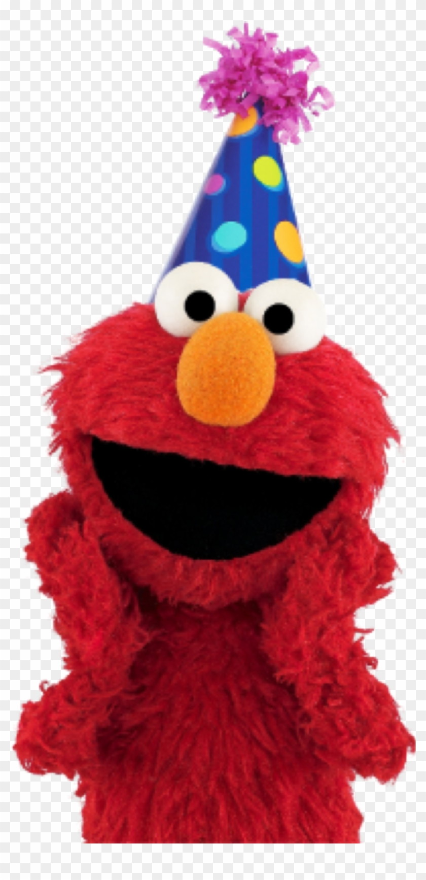 Elmo With Birthday Hat, HD Png Download.