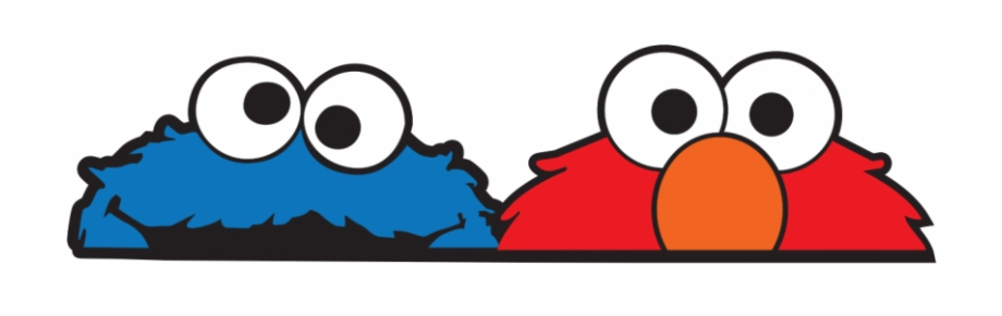 Cookie Monster And Elmo Large Jdm Car Sticker.