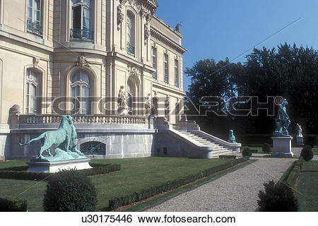 Stock Images of mansion, Newport, Rhode Island, The Elms a.