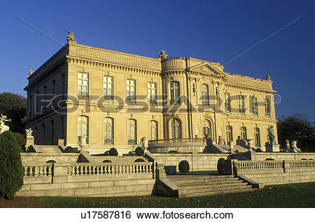 Stock Images of mansion, Newport, Rhode Island, RI, The Elms a.