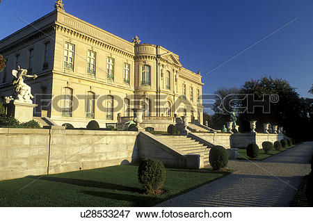Picture of The Elms, mansion, Newport, RI, Rhode Island, The Elms.