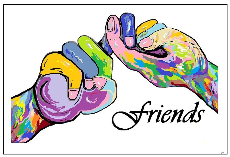 Friends . . . An American Sign Language Painting by Eloise.