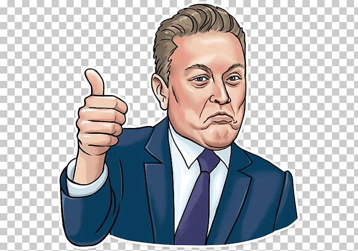 Elon Musk Sticker Chief Executive Telegram, Musk Stick PNG.
