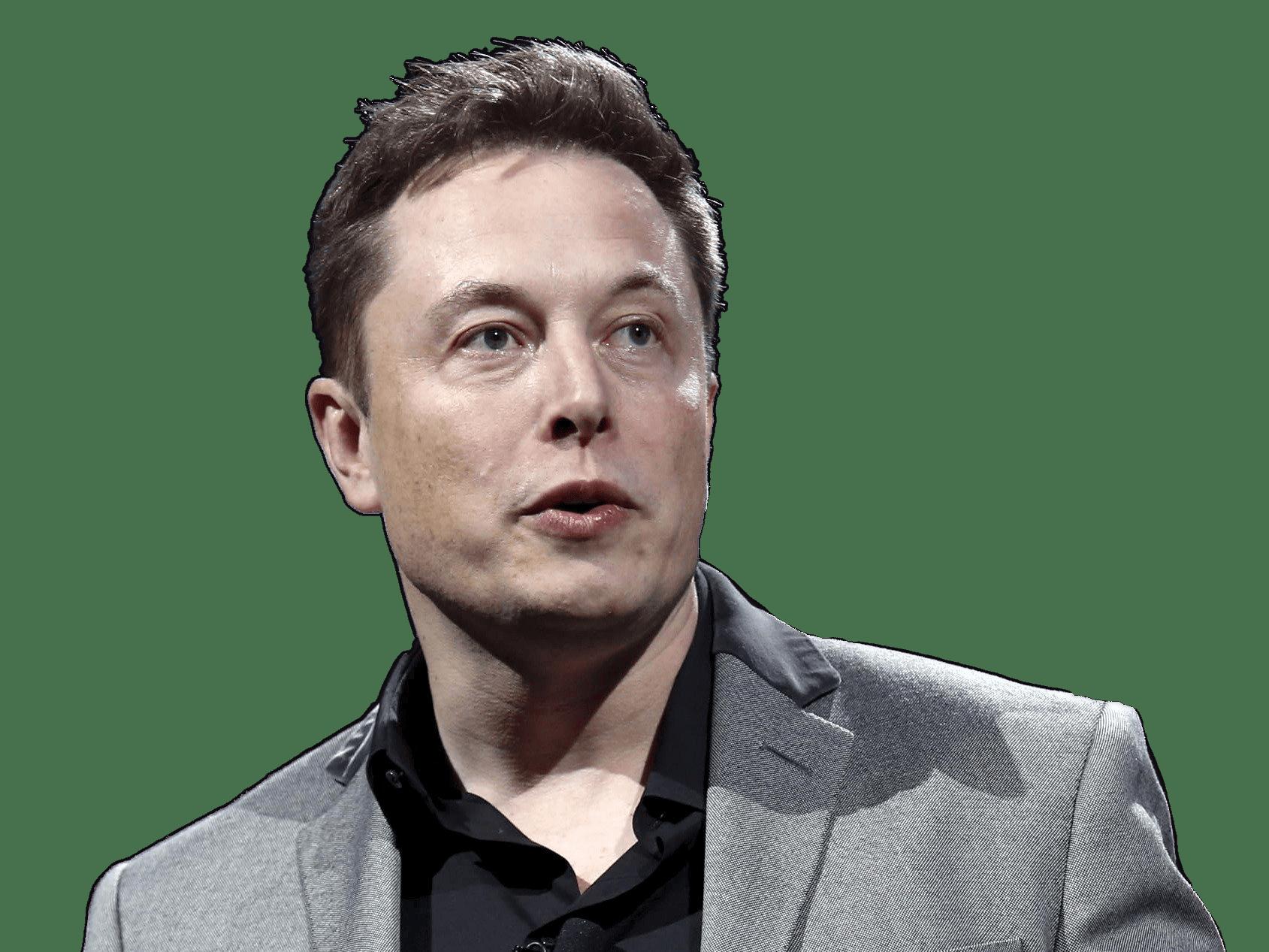 Elon Musk Speaking transparent PNG.
