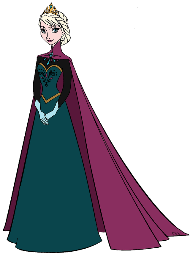 Elsa Gown Clipart Dress Free On Transparent Png.