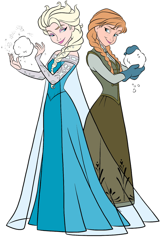 Anna and Elsa Clip Art from Frozen.