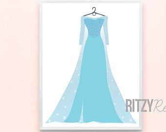 Elsa Dress Clipart.
