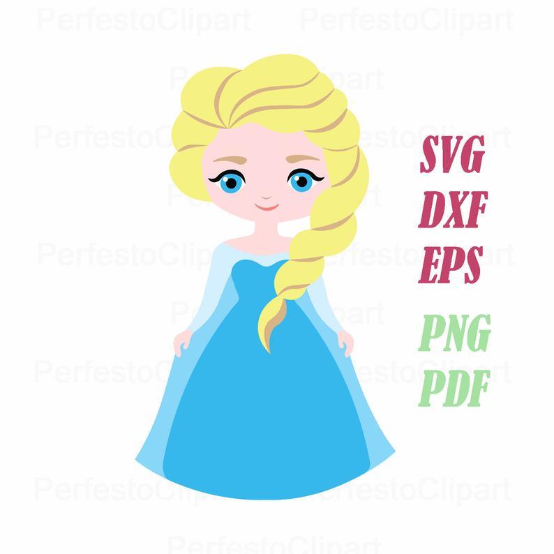 Frozen Elsa vector clipart / Frozen Elsa Svg / Frozen Svg / Frozen Elsa Dxf  / Frozen Cricut / Frozen silhouette / Eps, Png / Pdf.