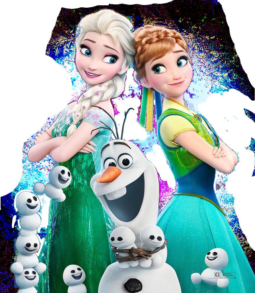 Frozen Olaf Elsa PNG Clipart.