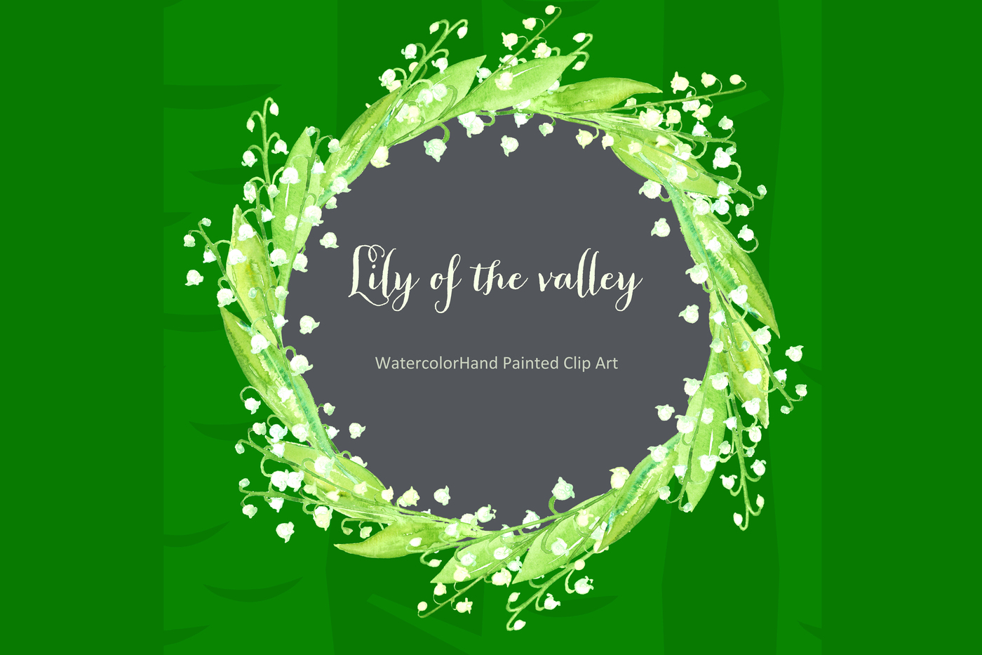 Lily of the valley. watercolor clipart by LABFcreations.