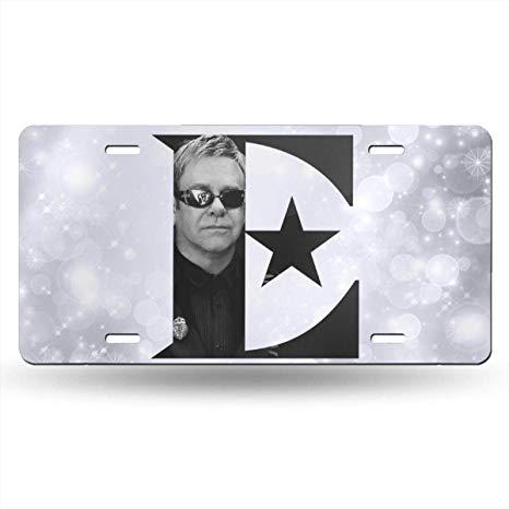 Amazon.com: Black6red Elton John Logo License Plate Frame.
