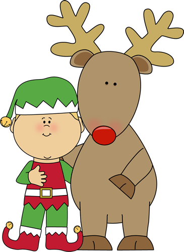 Silly Christmas Elves Clipart.