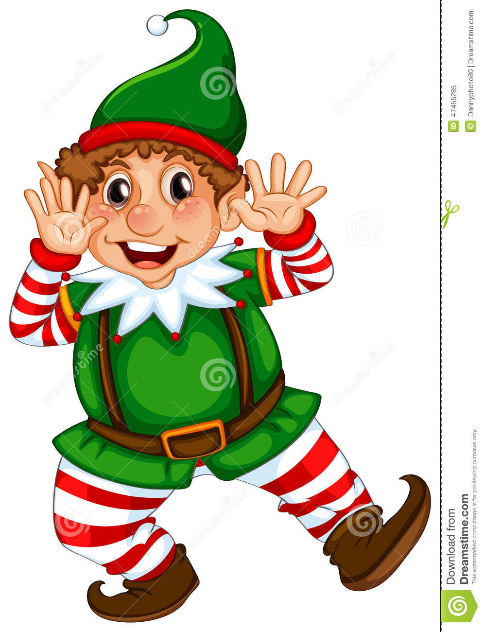 Dancing Elf Yourself Clipart.