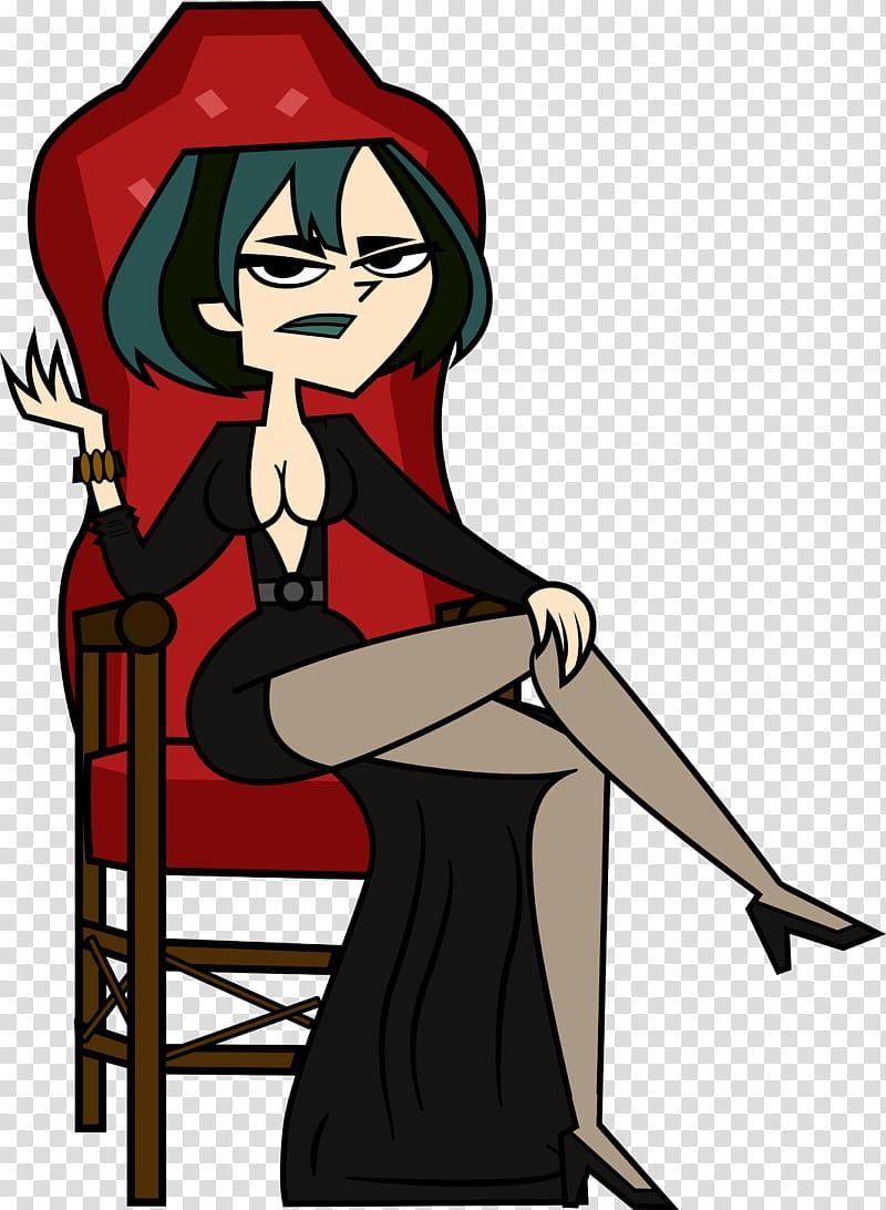 Gwen as Elvira Halloween Sequel transparent background PNG.