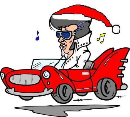 Christmas Elvis Clip Art.