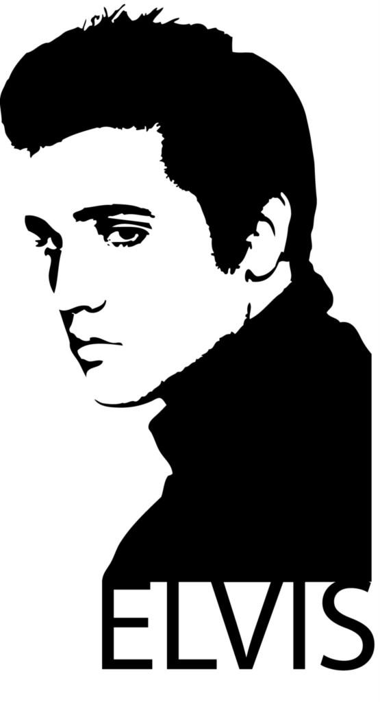 Elvis Silhouette Clip Art.