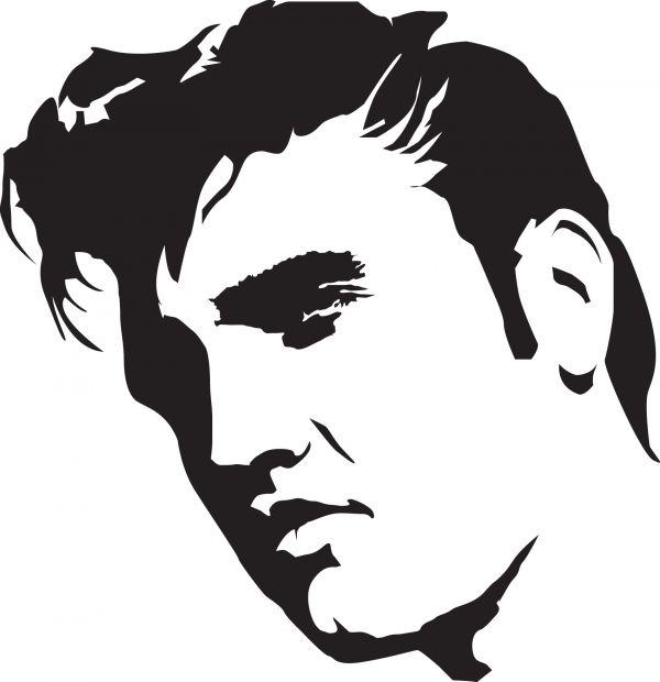741 Elvis free clipart.