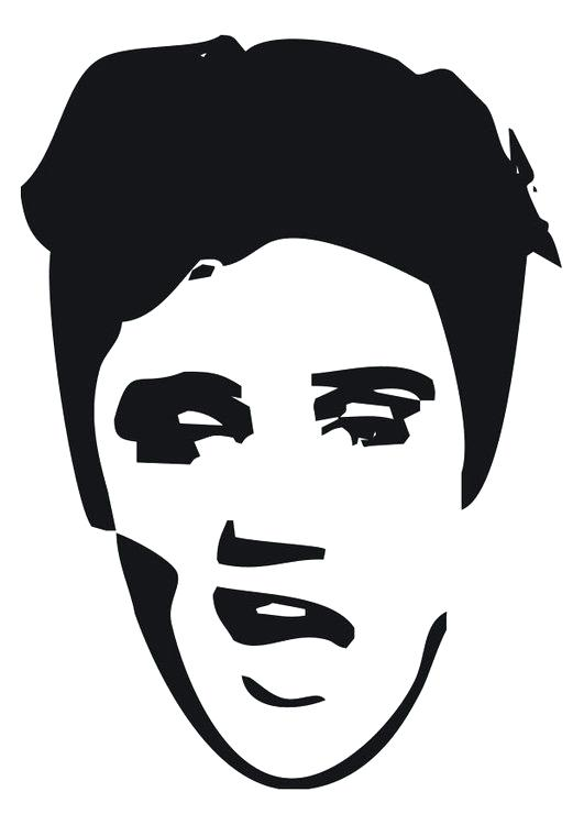 14 cliparts for free. Download Elvis clipart black and white.