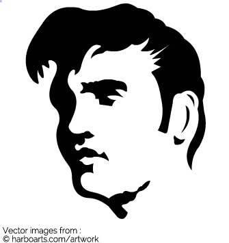 Elvis hair clipart » Clipart Portal.