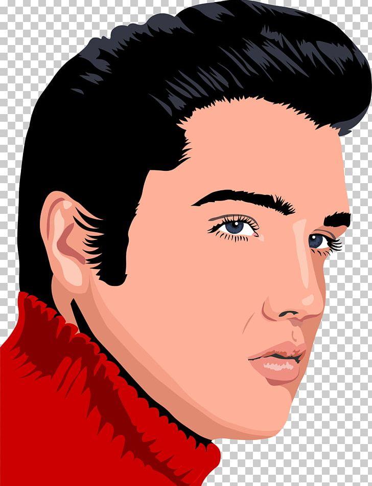 Elvis Presley Elvis Elvis Elvis PNG, Clipart, Art, Black Hair, Brown.