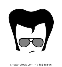 Huge Collection of 'Elvis hair silhouette'. Download more than 40.
