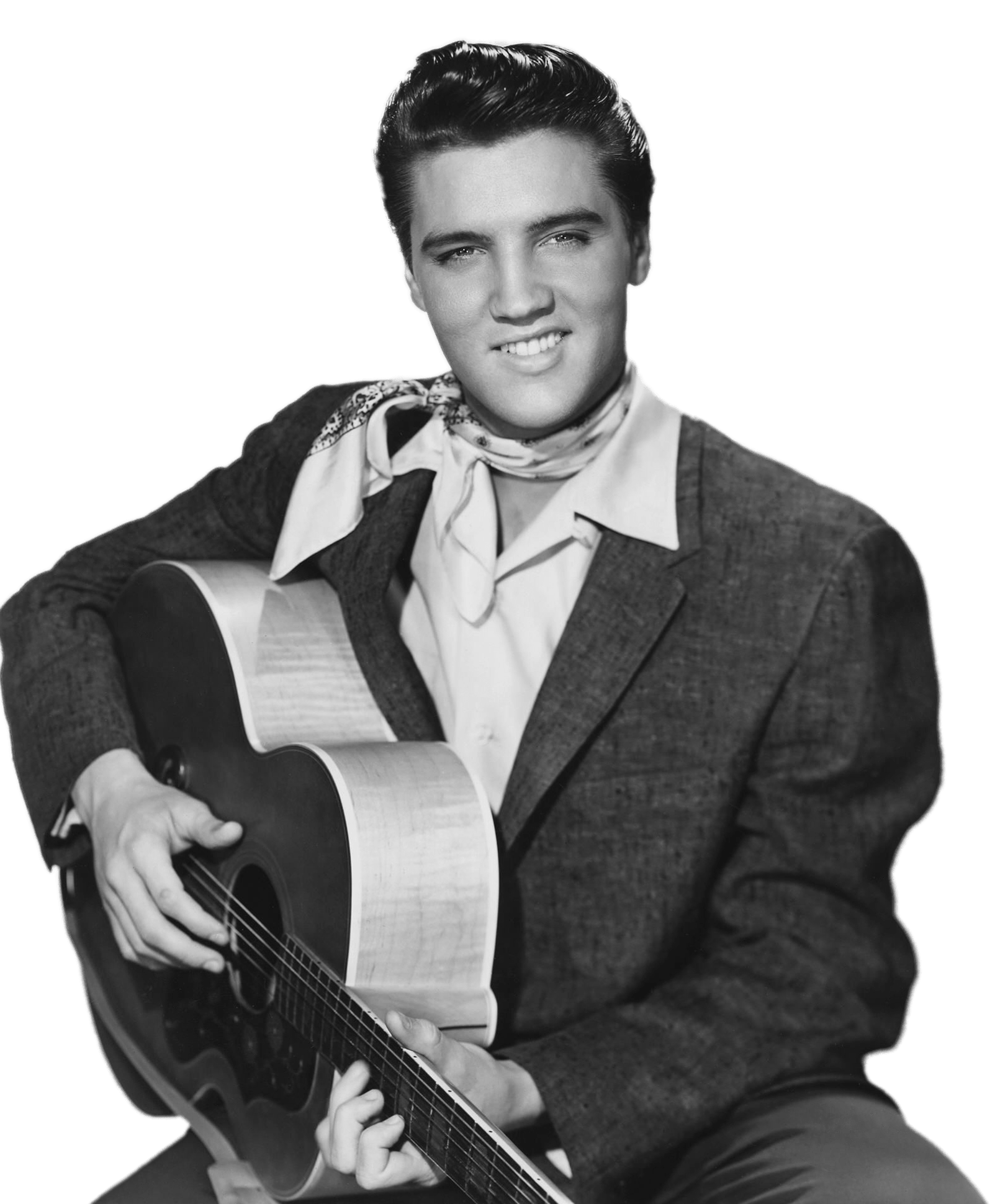 Elvis Presley With Guitar transparent PNG.
