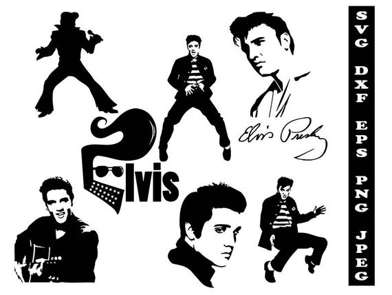 Elvis Presley svg, celebrity svg, celebrity clipart, Elvis Presley dxf,  celebrity shirt svg, silhouette celebrity svg, svg shirts, fashion.