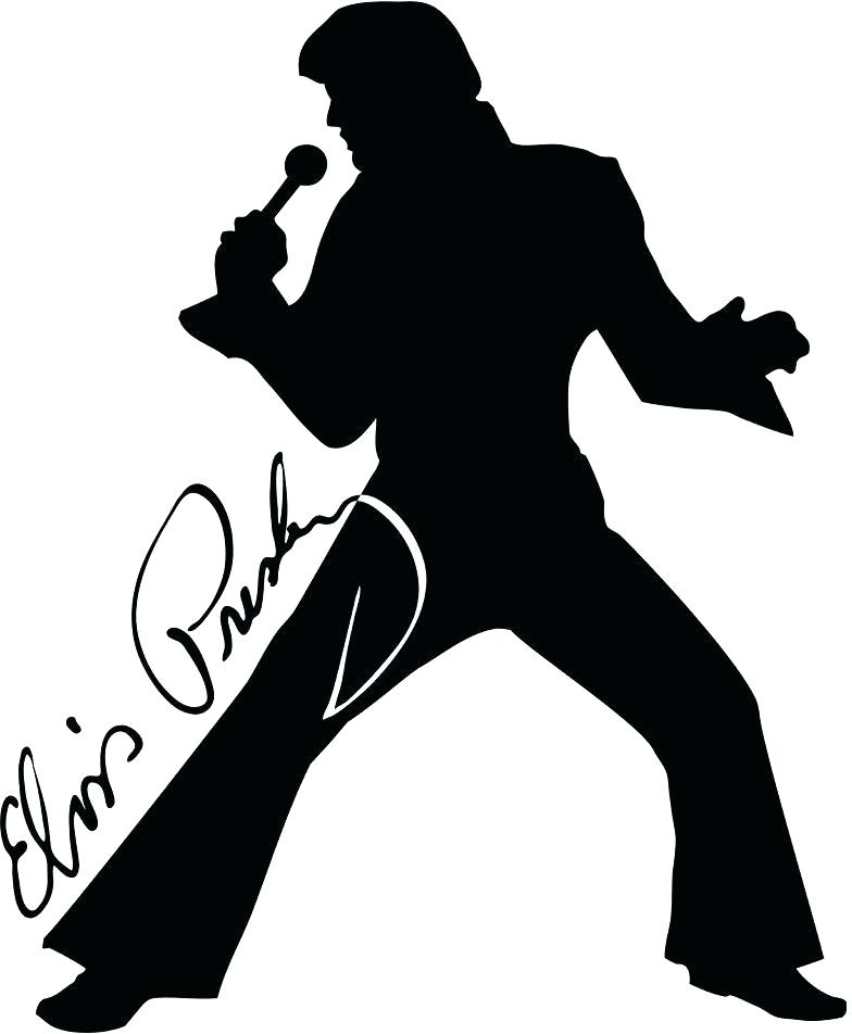 Collection of 14 free Elvis clipart singer line bill clipart dollar.