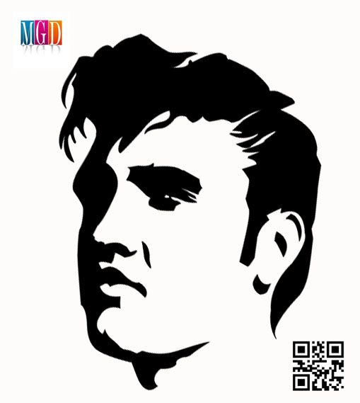 Elvis Presley in Concert Clip Art.